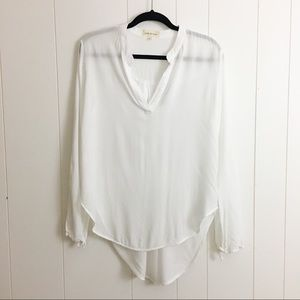 Cloth & Stone White Popover Blouse